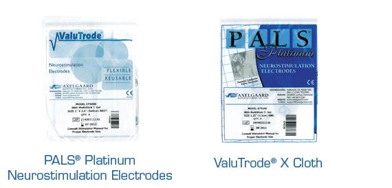Axelgaard PALS Platinum Neurostimulation and ValuTrode X Cloth Electrodes