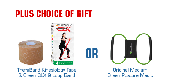Buy 20 Biofreeze Receive 4 Tubes Free Plus Choice of Gift of Either Theraband Kinesiology Tape and Green CLX 9 Loop Band or Green Posture Medic
