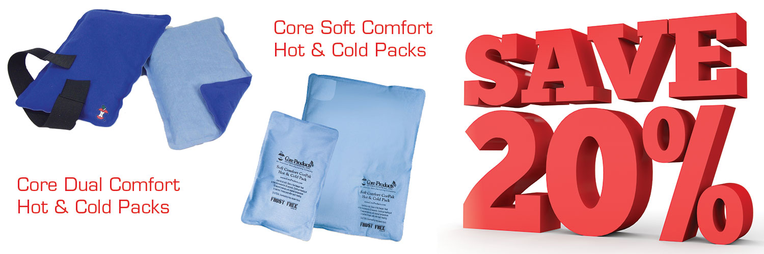 save 20% on Core hot and cold packs